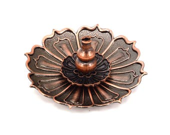 9 Holes Lotus  Metal  Incense Burner Holder Censer Plate , Incense Burner For Stick , Incense Coils