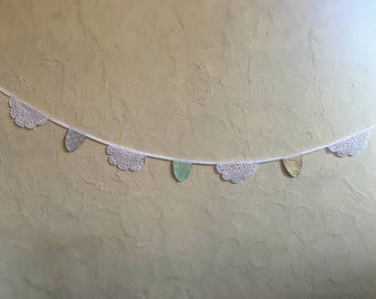 Sweet Celebrations Doily and Fabric Bunting