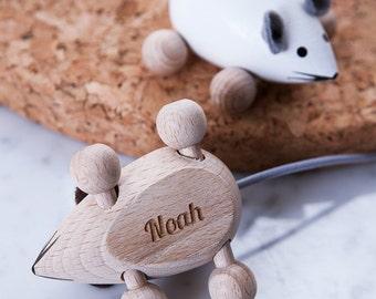 Gift for godchild etsy personalised engraved name keepsake mouse gift for toddlers baby shower gift godchild gift negle Images