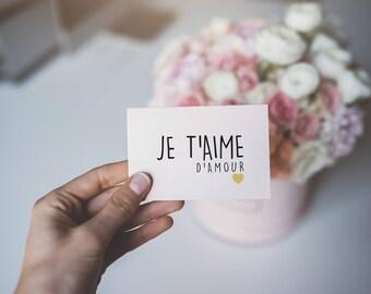 Mini love card