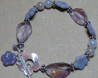 Lovely Lavender Ametrine & Czech Glass Bracelet - B196