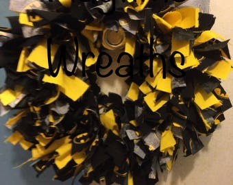 Batman Rag Wreath