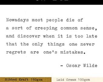 Real Typewriter – Oscar Wilde Quotes – Part 5