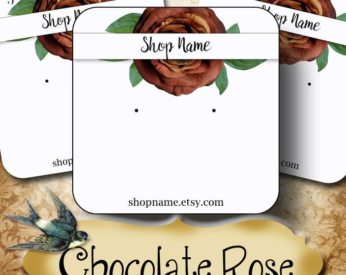60•CHOCOLATE ROSE•Necklace Card•Earring Cards•Jewelry Cards•Display Card•Display•Earring Holder•Necklace Holder•2x2 or 3x3