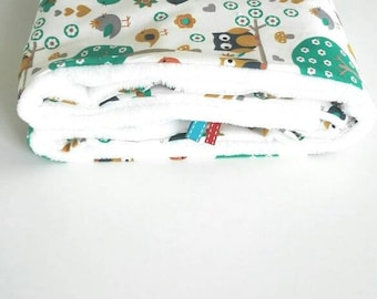 baby blanket / cover patterns owls / birthday gift