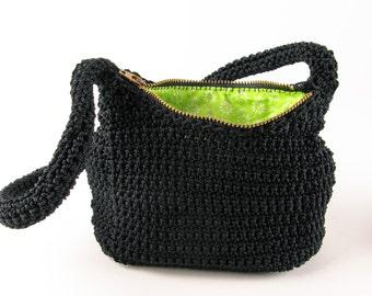 Crochet Nylon Handbag Pattern - Digital Download PDF Crochet Pattern