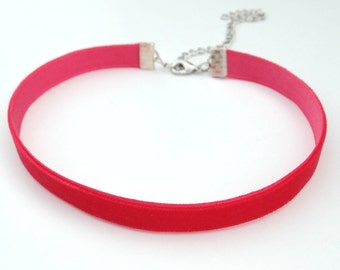 Velvet Choker Necklace, Red Choker Necklace, Dainty Choker Necklace, Velvet Choker, Velvet Necklace, Red Choker, Thin Choker, Trendy Choker