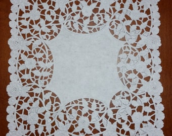 "8"" Square paper doilies-10 or 25 Pieces"