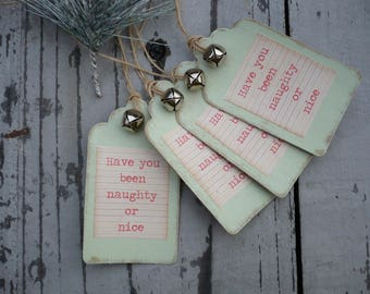 Hand made christmas gift tags, xmas labels, gift wrap, christmas labels,