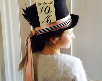 Mad hatter Alice in Wonderland / through the looking glass top hat