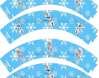 Frozen Elsa & Olaf Cupcake wrappers