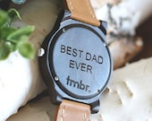 Best Dad Father's Day Wood Watch, Engraved Wood Watch, Men's Wood Watch - CST-BRLY-L-DAD