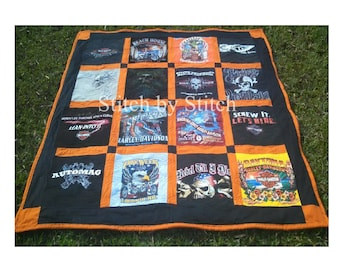 Harley Davidson (I SUPPLY THE SHIRTS) Theme Memory Quilts