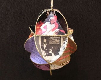 Diana Ross Album Cover Ornament Made Of Record Jackets