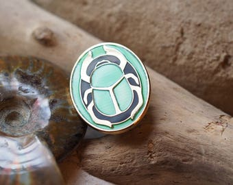 Scarab Hard Enamel Pin