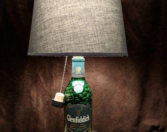 Glenfiddich 12 Year Scotch Whiskey Bottle Lamp