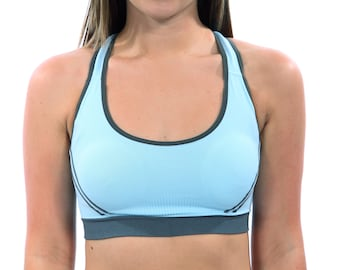 Classic Light Blue Sports Bra