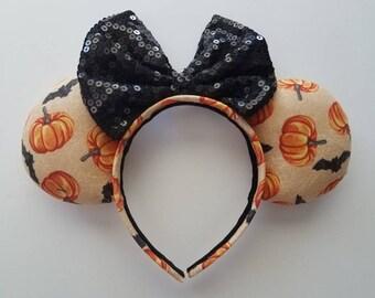 RTS Pumpkin Bats Mickey Ears