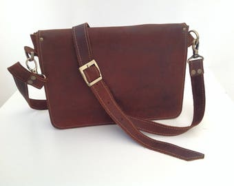 70's style leather Sling Bag