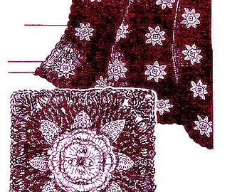 Charleston Garden Afghan Crochet Pattern 723137