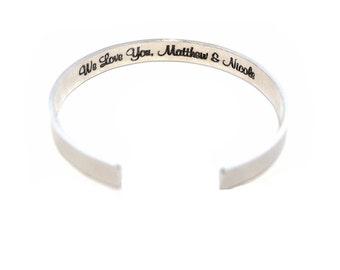 Personalized cuff - Secret message cuff - Textured cuff- Handstamped Cuff - women's gift - Custom Secret Message Bracelet
