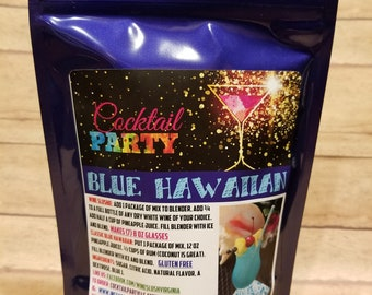 BLUE HAWAIIAN Wine Slush Mix| Margarita| Cocktail Party| Wine Gift| Gifts for 21| Wine Drinks| Birthday Gift| Gifts For Her| Drink In Hand