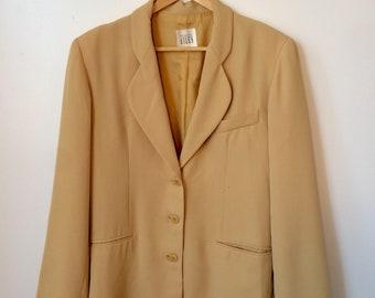Mustard yellow blazer M/L Size 8