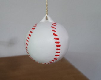 Ceramic Baseball Ornament(#509)