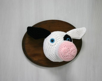 Crochet Taxidermy Cow