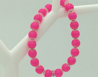 Stretch Bracelet, Bright pPink