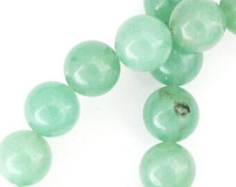 Green Aventurine Beads - 10mm Round