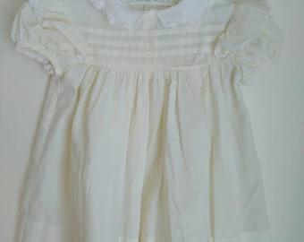 Vintage baby clothes,  vintage custom made Ance' K dress,  medium,  vintage Easter or Spring dress