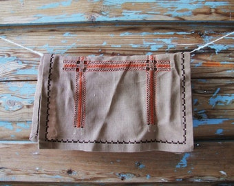 Danish vintage brown Tablerunner Tablecloth
