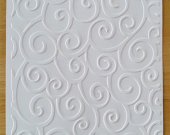 Embossed Card Stock Sheets or Cards/Envelopes -D'vine Swirl