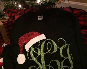 Santa Hat Monogram Shirt