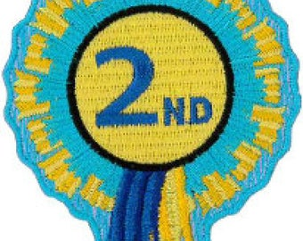 "2nd Rosette Embroidered Patch 8cm x 6cm (3"" x 21/2"")"