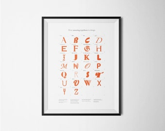 Amazing typefaces - Typography - Alphabet - Digital art print