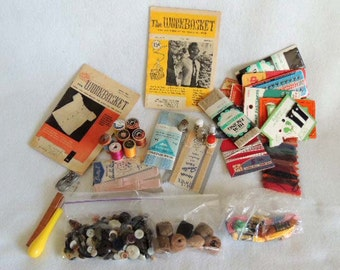 VINTAGE SEWING LOT.. Needles, Thread, Scissors, Snaps, Lingerie & More 32 Items