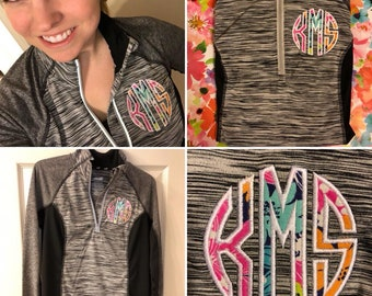 Lilly Pulitzer inspired Monogrammed Pullover