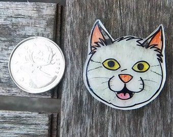 Hand-Drawn Sheriff Buford Pussycat Shrink Plastic Magnet