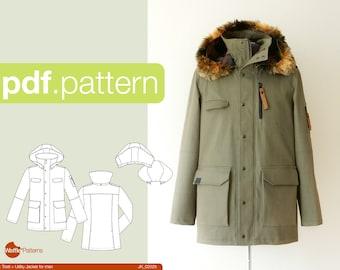 PDF sewing pattern Utility Jacket -Tosti- for Men (size 44-58)