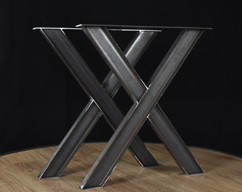 Ordinaire Industrial X Shape Metal Table, Wrought Iron Table Legs, Industrial Table  Base SET Of 2