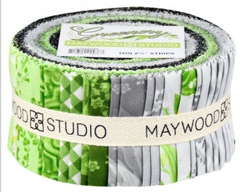 """Greenery 2.5"""" Strips by  for Maywood Studio"""
