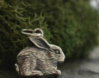 Sterling Silver Rabbit Charm
