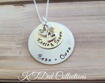 Personalized Family tree necklace, Name Necklace, Personalized Gifts for Mom, Mom Necklace, Family Name Necklace