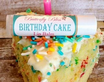 lip butter | birthday cake lip balm | birthday cake | birthday party favors | happy birthday | sweet lip balm | party favors | lip balm