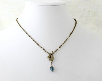 Lock n Key Pearl Necklace
