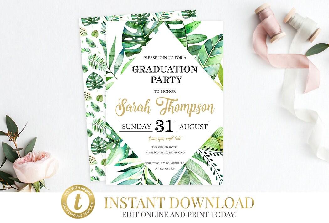 Graduation Party Graduation Invitation Graduation Invite ...
