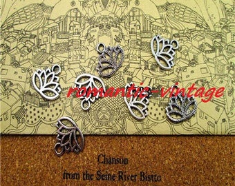 5 16 * 14mm antique silver lotus flower charms