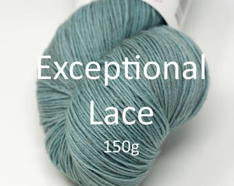 Exceptional Lace 150g skein, your choice of colors
